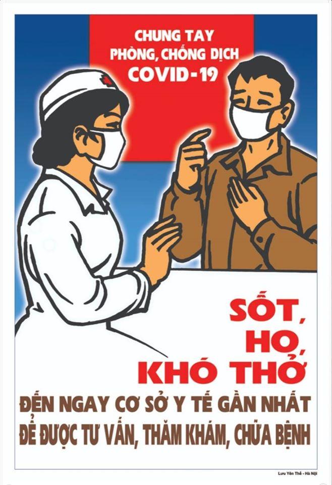 Khi có những biểu hiện như sốt, ho, khó thở cần liên hệ với cơ sở y tế gần nhất để được